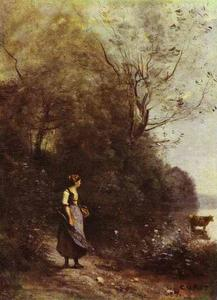 Peasant Woman with a Cow