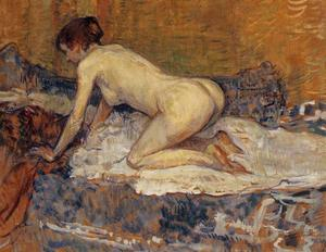 Crouching Woman with Red Hair
