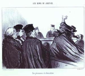 The Conclusion of a Speech à la Demosthene. From the Series Les Gens de justice