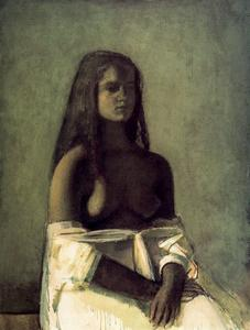 Young Girl with a White Skirt