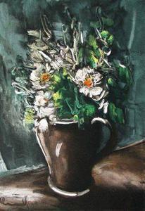 在陶瓷罐花