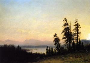 Landscape with Deer, View of Estes Park, Colorado