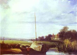 River Scene in France