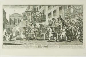 Burning the Rumps at Temple Bar, plate eleven from Hudibras