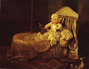 Gerard Anne Edwards in der Wiege