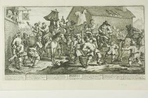 Hudibras and the Skimmington, plate seven from Hudibras
