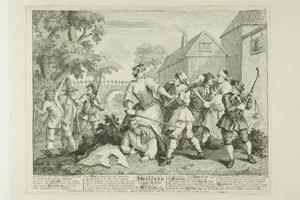 Hudibras Vanquished by Trulla, plate five from Hudibras