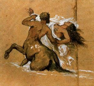 Centaure et nymphe