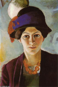 Portrait of the Artist's Wife with Hat