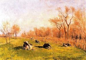 Vacas en las tapias del Pardo