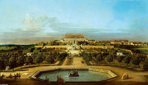 Das kaiserliche Lustschloß Schloßhof, Gartenseite