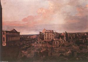 Dresden, the Ruins of the Pirnaische Vorstadt