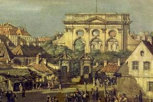 The Iron Gate and the Great Salon of the Saxon Palace in Warsaw
