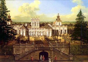 Wilanów Palace seen from the garden
