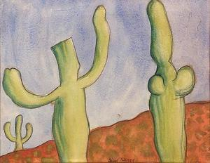 Landscape with Cacti 1