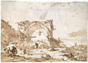 A Capriccio with a Ruined Gothic Arch