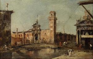 Tor zum Arsenal in Venedig