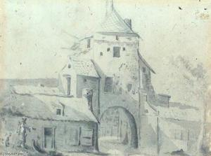 Luttekepoort vanuit de stad gezien
