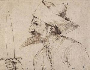 A Bearded Man Holding a Sword