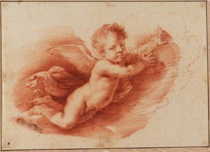 Flying putto