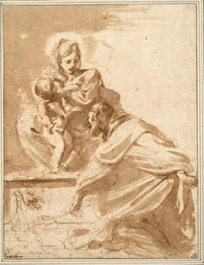 The Mother and the Child with a kneeling donator