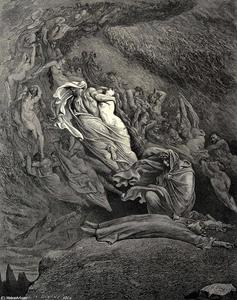 地狱,粤语5,行137-138。我通过同情昏厥,似乎 ð不远处的死亡,像一具尸体倒在了地上。