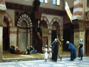Prayer in the Mosque of Caid Bey, in Cairo