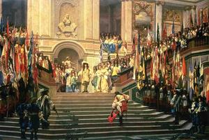 The Reception for Prince Conde at Versailles