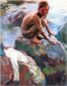 Boy on the Rocks, Javea
