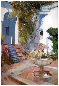Fountain at the Alcazar in Sevilla