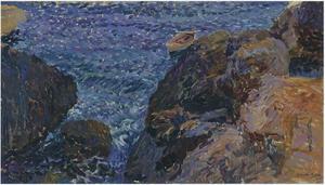 Rocks at Javea, The White Boat