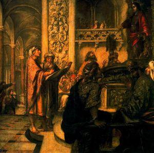 Cristo disputando con los Doctores en el Templo