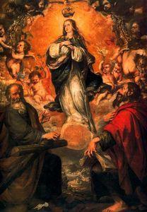 La Inmaculada Concepción con San Felipe y Santiago el Menor