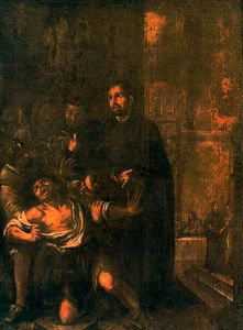 San Ignacio exorcizando a un poseso