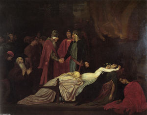 The Reconciliation of the Montagues and Capulets over the Dead Bodies of Romeo and Juliet