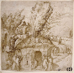 A Thebaid. Monks and Hermits in a Landscape