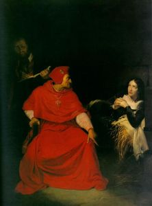 oan of Arc is interrogated by The Cardinal of Winchester in her prison