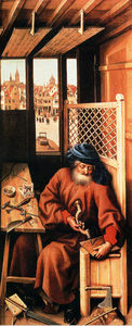 St. Joseph Portrayed As A Medieval Carpenter (Center Panel Of The Merode Altarpiece)