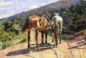 On the Tow-Path - A Halt