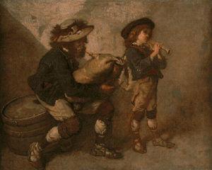 Pifferaro et son fils