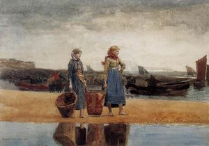 Two Girls at the Beach, Tynemouth