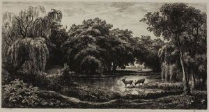 Marsh with Stags