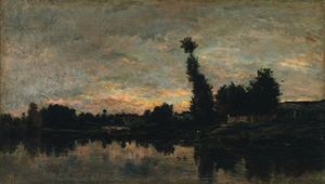 Sunset on the River Oise