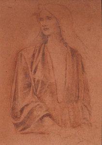A Half Length Portrait of a Girl- Study for Arthur in Avalon