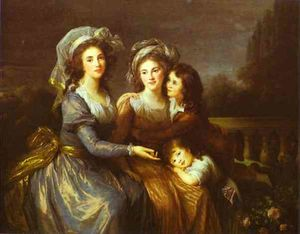 The Marquise de Peze and the Marquise de Rouget with Her Two Children
