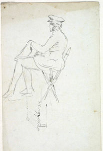 Man Seated on Chair