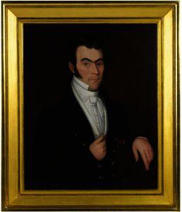 Portrait of a Dark Haired Gentleman