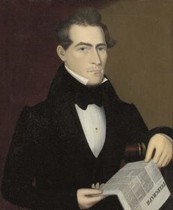 Portrait of a Man Holding the Telegraph