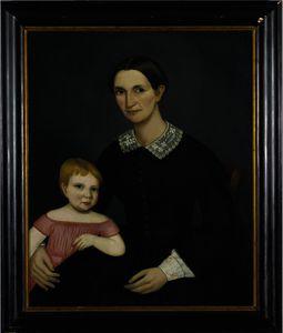 Portrait of Sarah King Dewey and her Daughter, Harriet