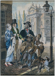 Worldly Folk Questioning Chimney Sweeps and Their Master before Christ Church, Philadelphia 1